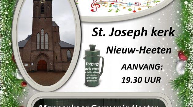 Kerstconcert op 20 december in St. Joseph Kerk